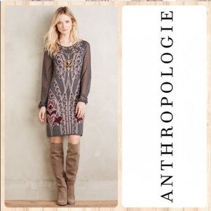 Knitted & Knotted Anthro Saone Sweater Dress